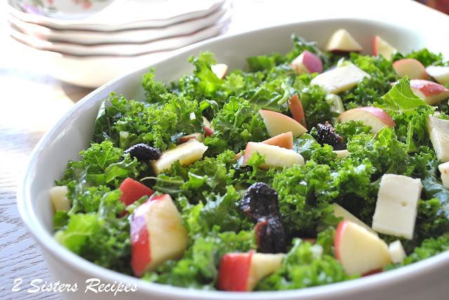 Spring Kale Salad by 2sistersrecipes.com