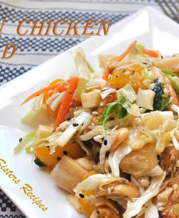 Asian Chicken Salad by 2sistersrecipes.com