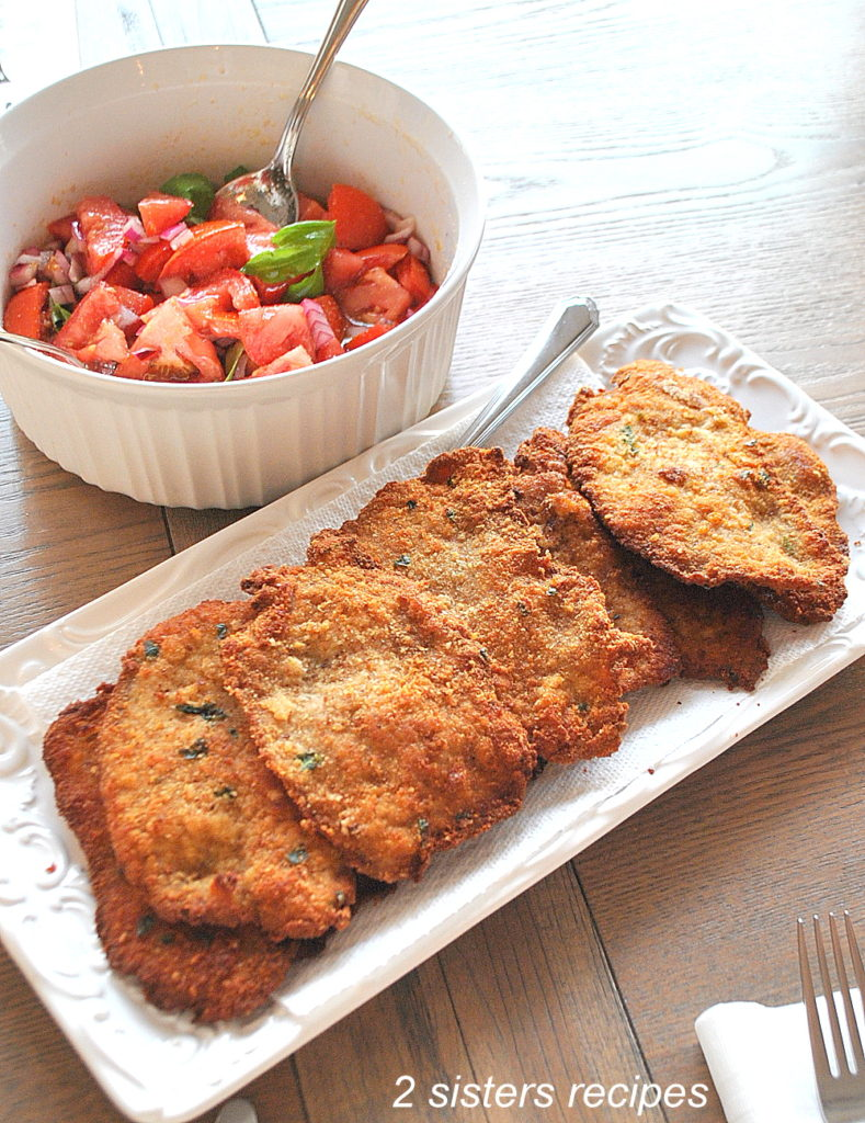 Perfect Veal Cutlet Milanese by 2sistersrecipes.com