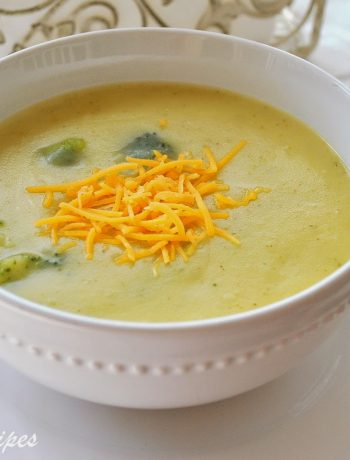 Potato Broccoli and Cheddar Soup by 2sistersrecipes.com