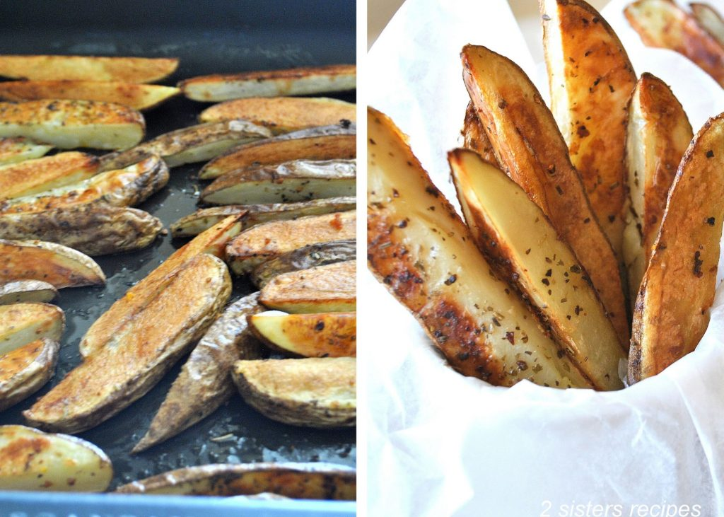 Oven Steak Fries - Restaurant Style by 2sistersrecipes.com
