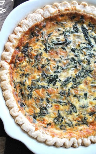 Spinach and Parmesan Quiche 2sistersrecipes.com