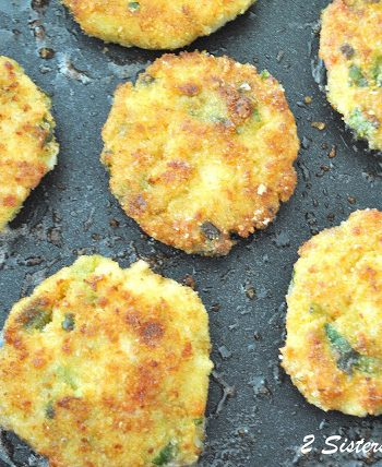 Cod Fish Cakes - Lightened by 2sistersrecipes.com