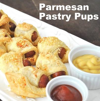 Parmesan Pastry Pups by 2sistersrecipes.com