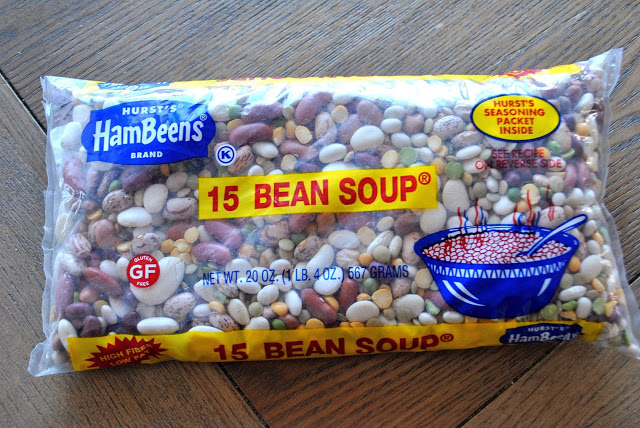 a photo of the package of the 15 bean soup by 2sistersrecipes.com