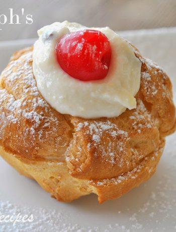 Italian Cream Puffs for St. Joseph's Day by 2sistersrecipes.com