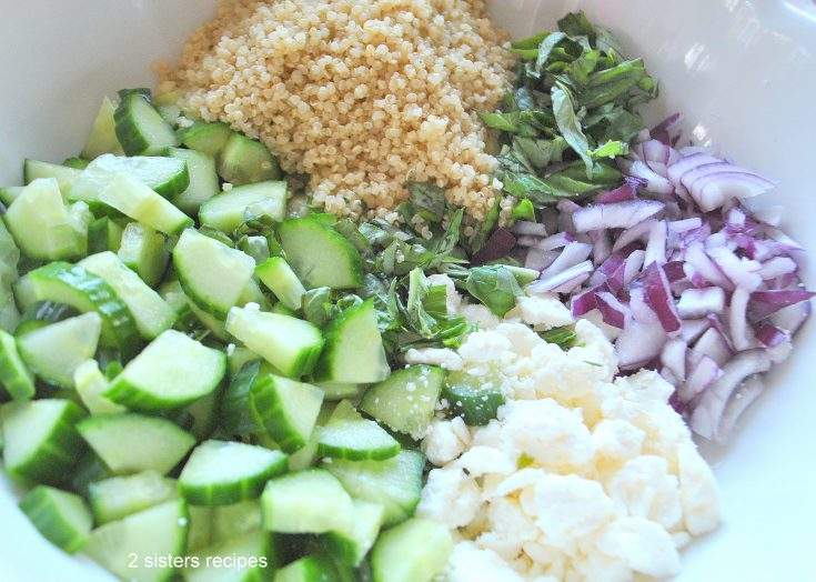 Cucumber and Quinoa Salad by 2sistersrecipes.com