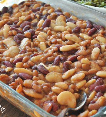 Drunken Baked Beans Casserole, by 2sistersrecipes.com