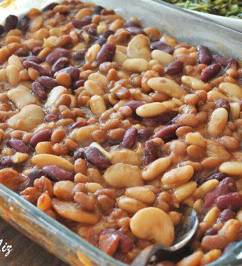 Drunken Baked Beans Casserole, by 2sistersrecipes.com