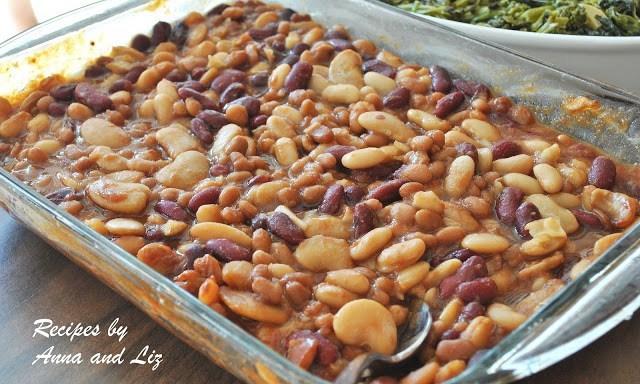 Drunken Baked Beans by 2sistersrecipes.com