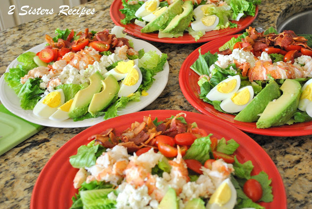 Lobster Cobb Salad by 2sistersrecipes.com