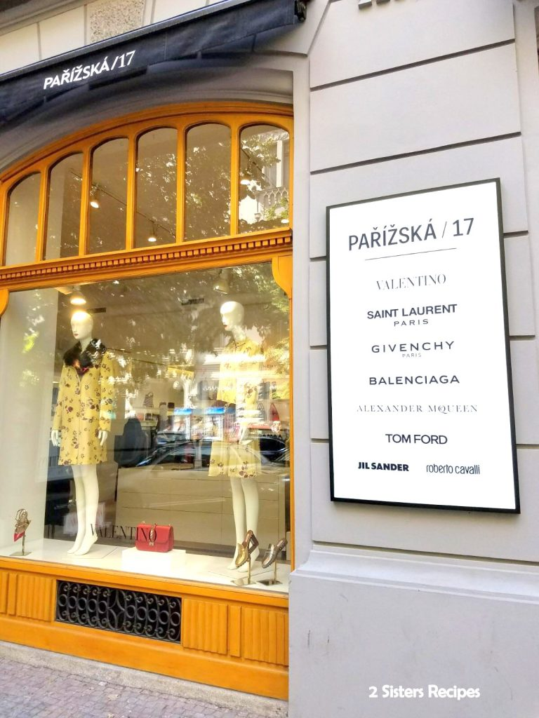 high end retailers in Prague, by 2sistersrecipes.com