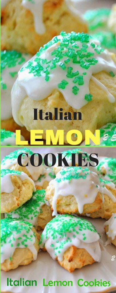 Italian Lemon Cookies with Lemon Glaze by 2sistersrecipes.com
