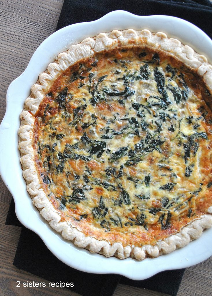 Spinach and Parmesan Quiche by 2sistersrecipes.com