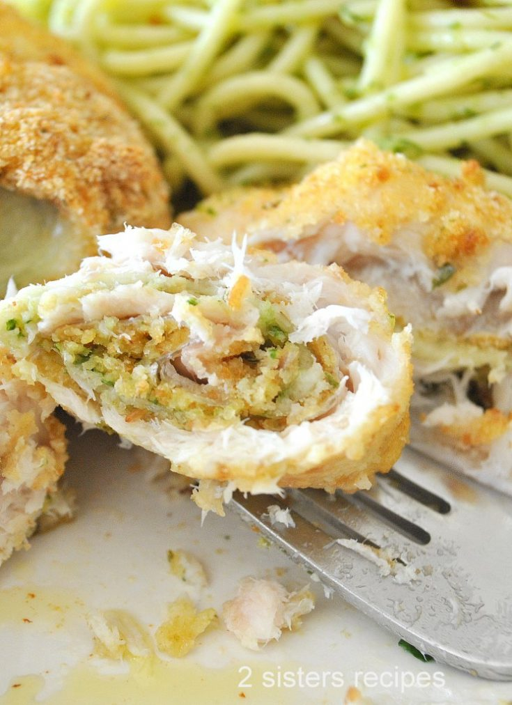 Flounder Filet Rollatini by 2sistersrecipes.com