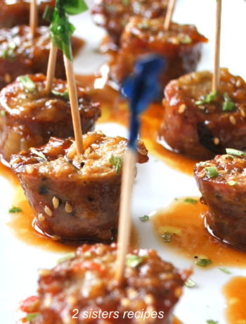 Sausage Bites with Sweet & Sour Dipping Sauce