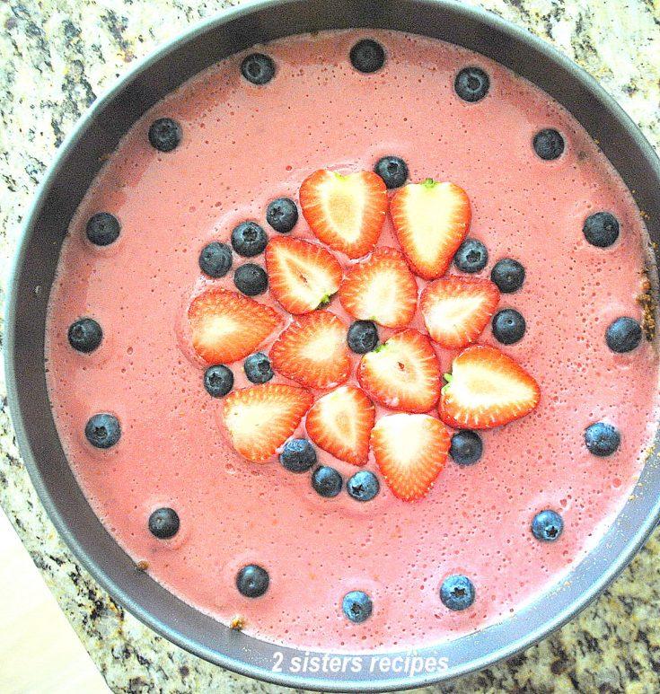 Lemon Raspberry Panna Cotta Cheesecake