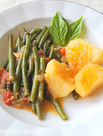 String Beans Tomato Potato Stew by 2sistersrecipes.com