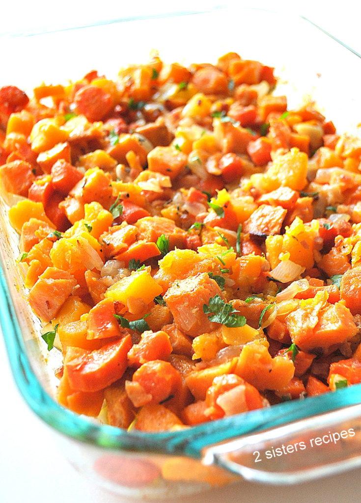 Healthy Butternut Sweet Potato Casserole by 2sistersrecipes.com