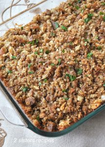 Thanksgiving Stuffing Sicilian Style by 2sistersrecipes.com