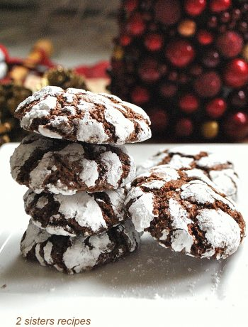 Chocolate Crinkle Cookies by 2sistersrecipes.com