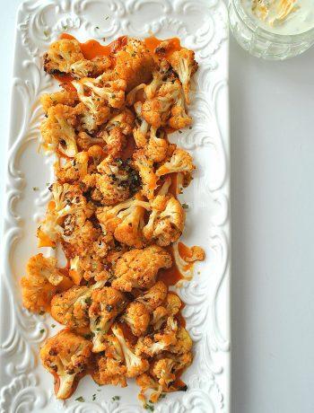 Cauliflower Wings with Buffalo Sauceby 2sistersrecipes.com