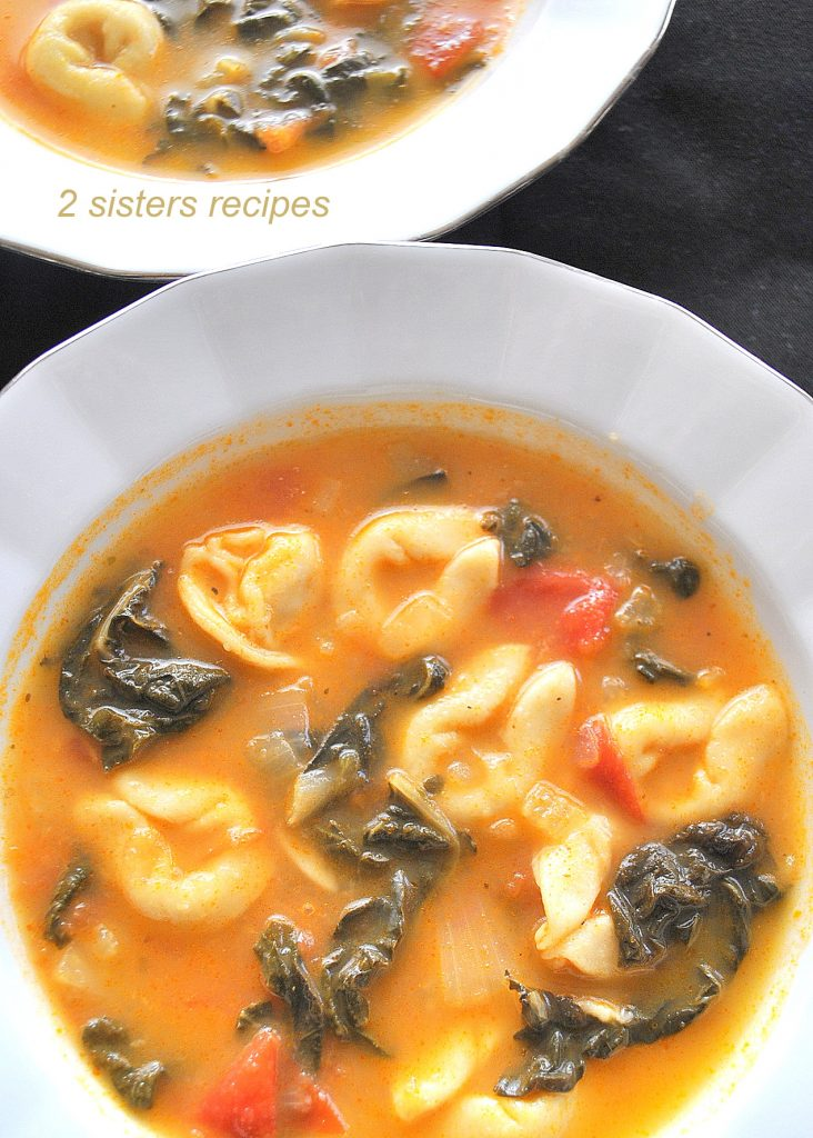 Tuscan Tortellini Soup by 2sistesrecipes.com