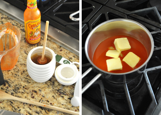 Melting butter in a pan with hot sauce by 2sistersrecipes.com