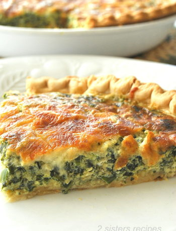 Spinach and Kale Quiche by 2sistersrecipes.com