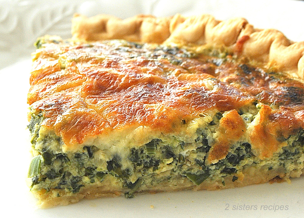 Spinach and Kale Quiche by 2sistersrecipes,com