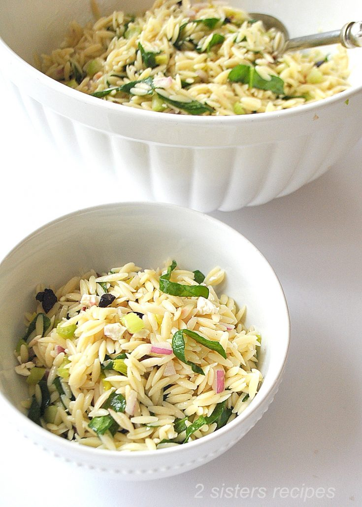 Best Orzo Salad with Spinach