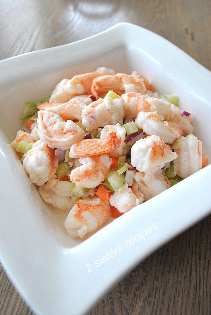 Easy Italian Shrimp Salad by 2sistersrecipes.com
