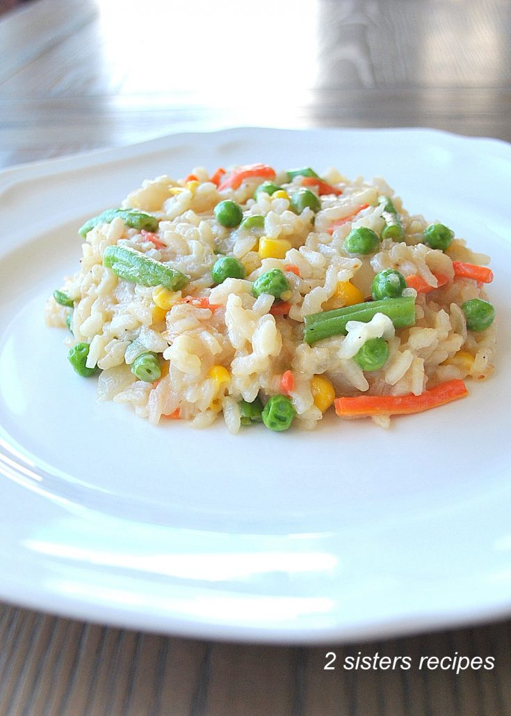 Easy Vegetable Risotto by 2sistersrecipes.com