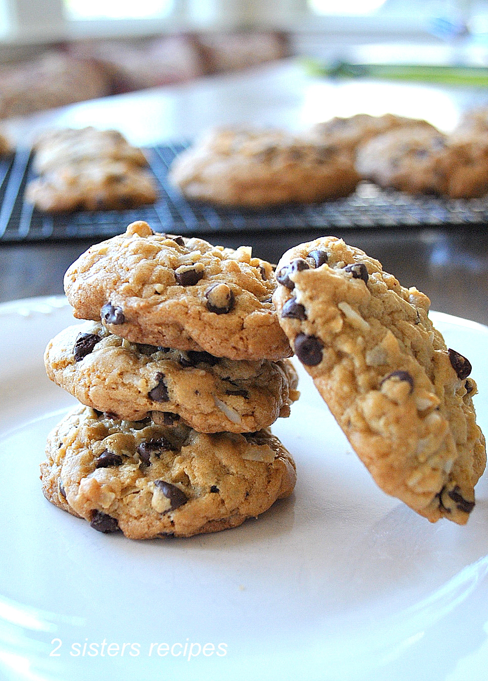 Chocolate Chip Coconut Cookies by 2sistersrecipes.com