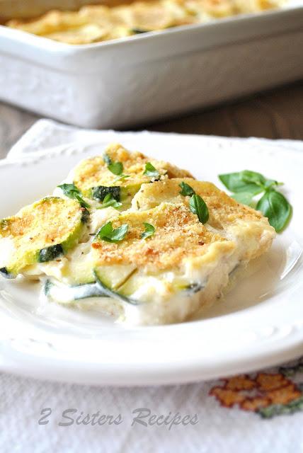 Creamy Potato and Zucchini Au Gratin by 2sistersrecipes.com