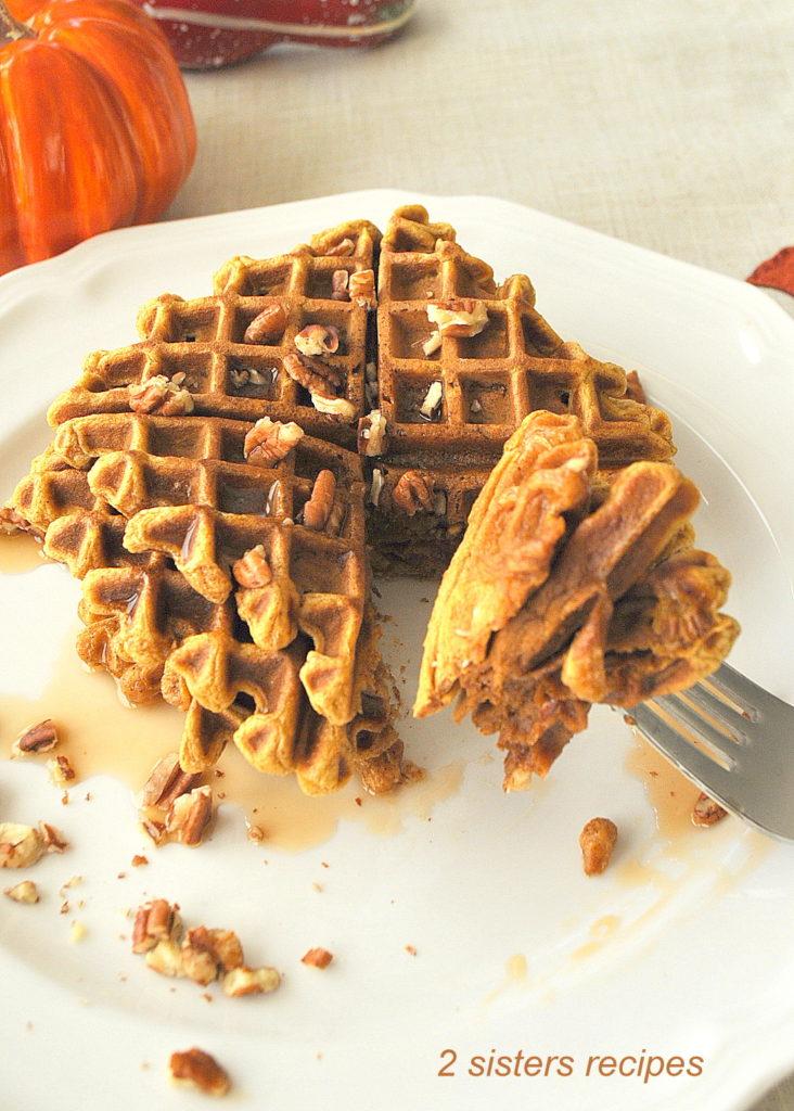 Pumpkin Waffles by 2sistersrecipes.com
