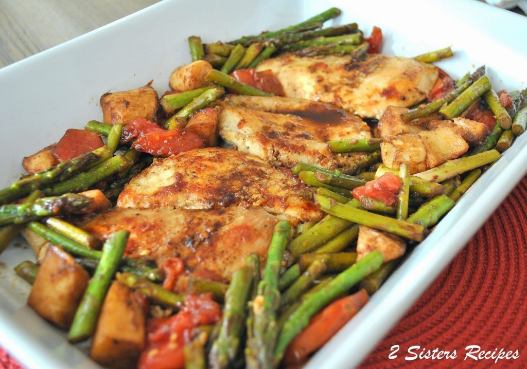 Grilled Chicken with Hearts of Palm in a balsamic Sauce by 2sistersrecipes.com