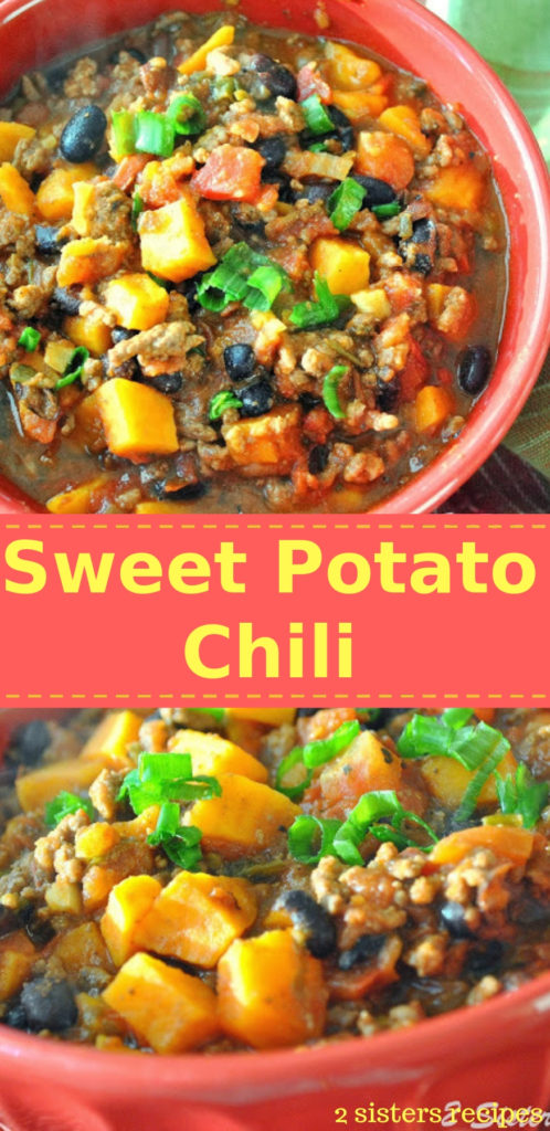 Sweet Potato Chili by 2sistersrecipes.com