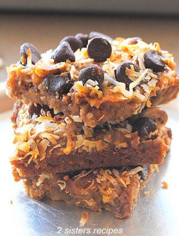 Gluten-Free Pumpkin Magic Bars by 2sistersrecipes.com