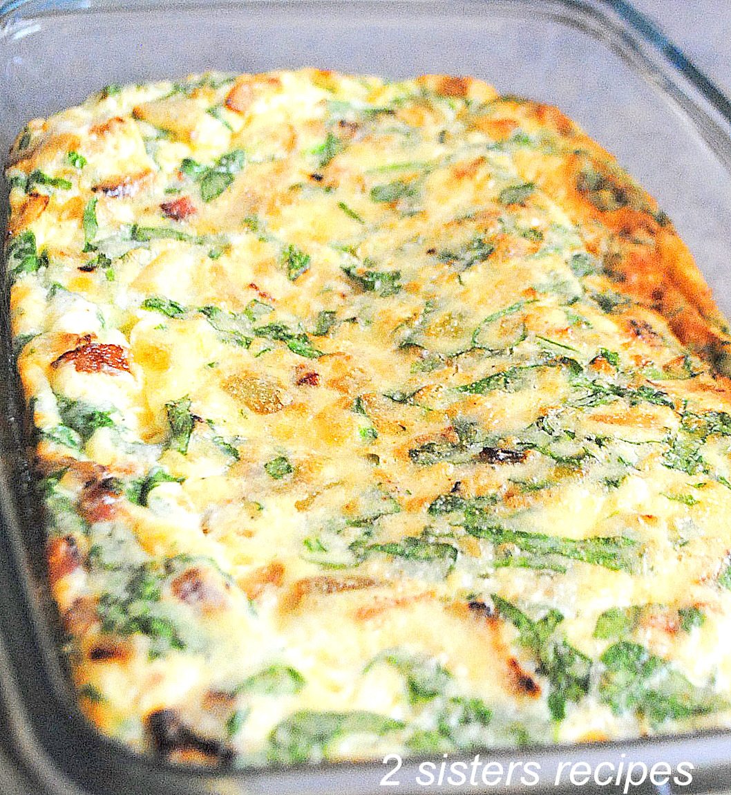 Spinach and Egg Breakfast Casserole by 2sistersrecipes.com