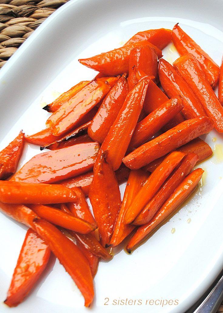 Maple Glazed Carrots by 2sistersrecipes.com