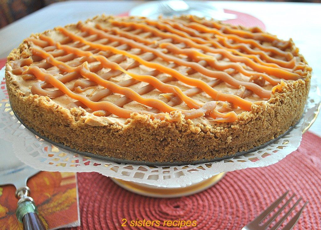 Pumpkin Spice Ice Cream Pie by 2sistersrecipes.com