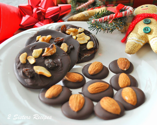 Peppermint Bark and Dark Chocolate Almond Kisses by 2sistersrecipes.com
