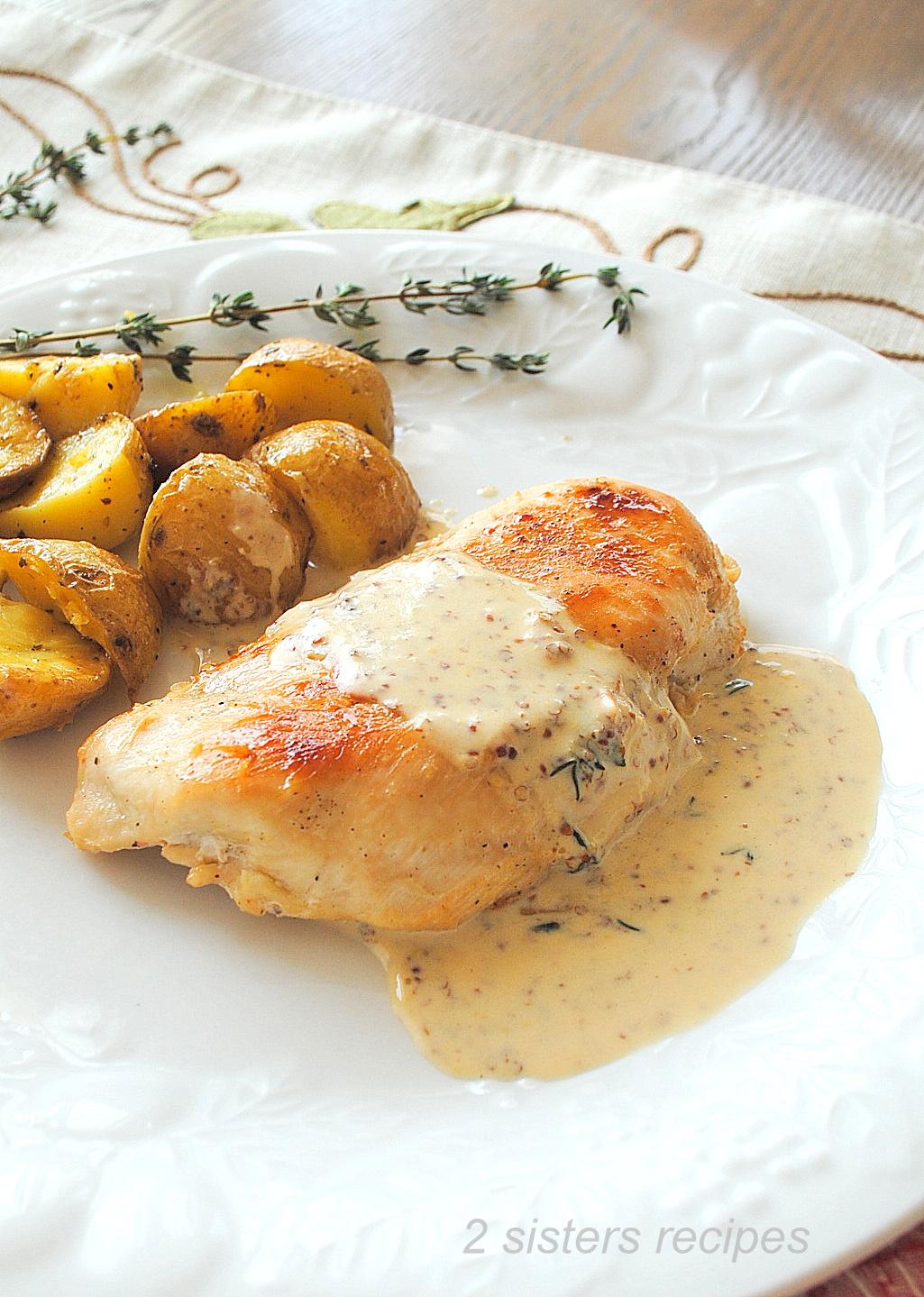 Chicken with Dijon Wine Cream Sauce by 2sistersrecipes.com