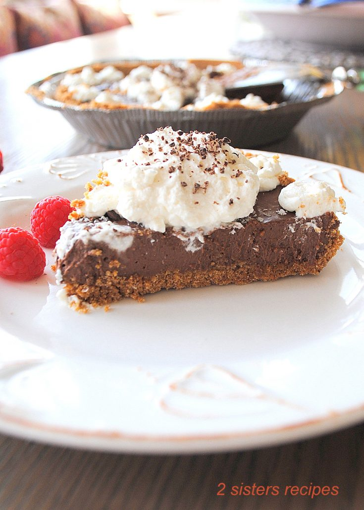 Silky Chocolate Cream Pie by 2sistersrecipes.com