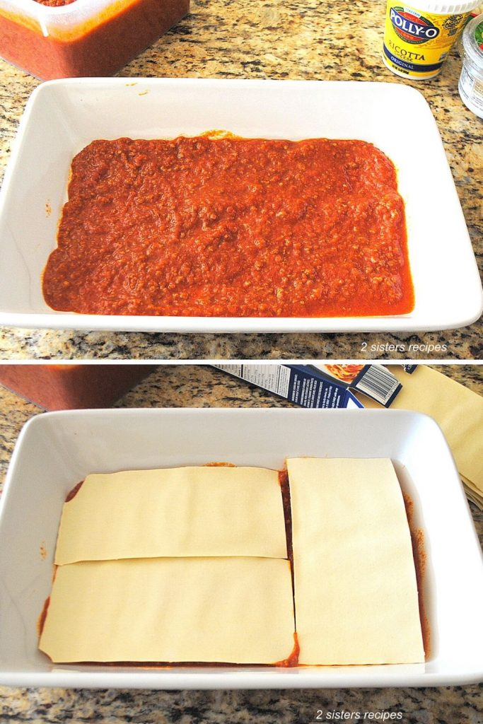 How to Make Lasagna with No Boil Noodles by 2sistersrecipes.com