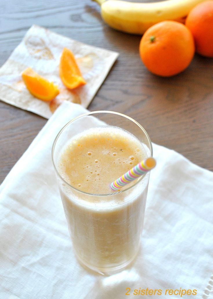 Healthier Orange Creamsicle Smoothie by 2sistersrecipes.com