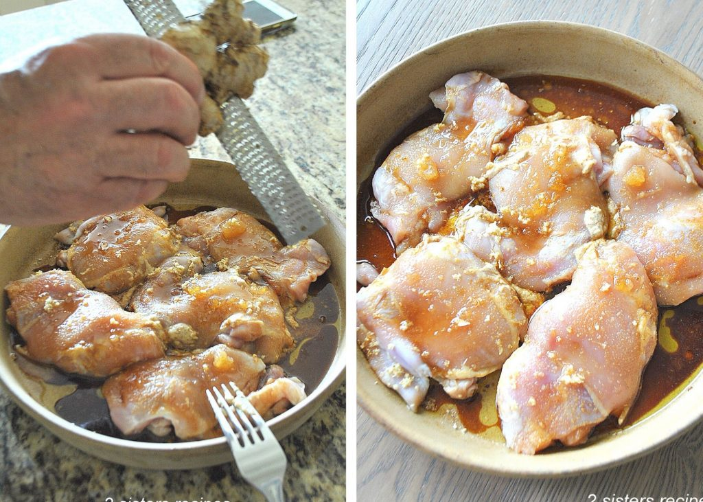 Chicken Thighs with Ginger Honey & Mustard by 2sistersrecipes.com