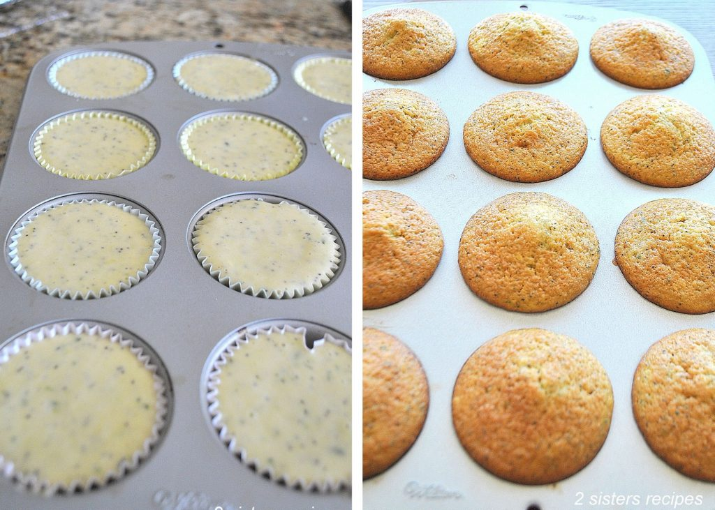 Lemon Zucchini Poppy Seed Muffins by 2sistersrecipes.com