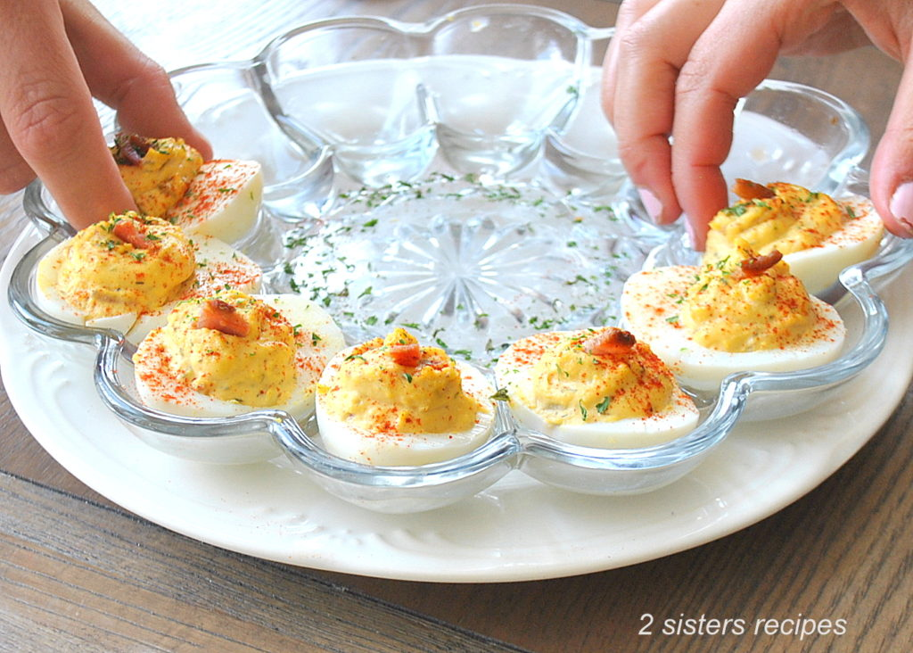 Deviled Eggs Italian Style by 2sistersrecipes.com